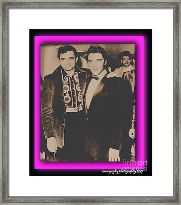 Elvis And Johnny Framed Print