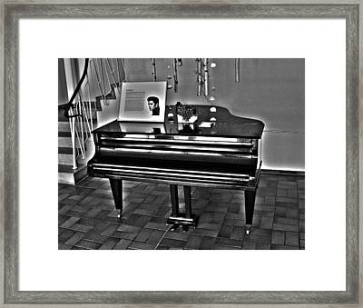 Elvis And The Black Piano ... Framed Print