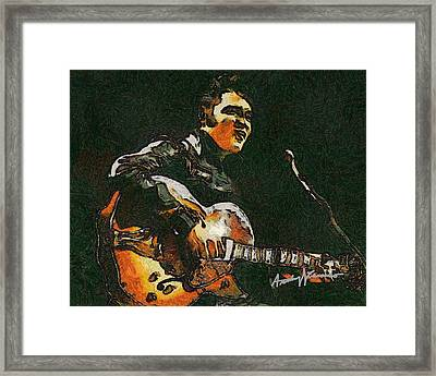 Elvis Framed Print by Anthony Caruso