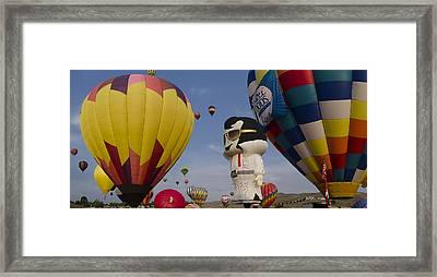 Elvis At Reno Balloon Race Framed Print by Rick Mosher