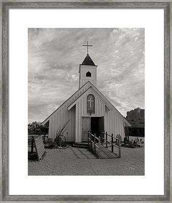 Elvis Chapel, Monochrome Framed Print by Gordon Beck
