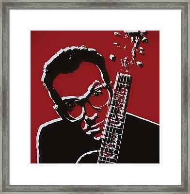 Elvis Costello Pop Art Framed Print by Dan Sproul