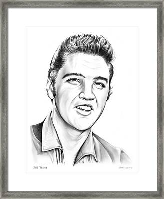 Elvis Framed Print by Greg Joens