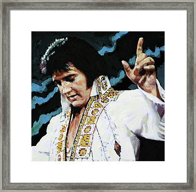 Elvis - How Great Thou Art Framed Print by John Lautermilch