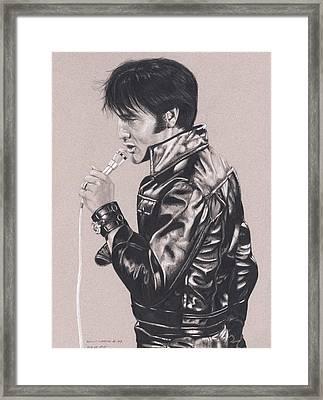 Elvis In Charcoal #177, No Title Framed Print
