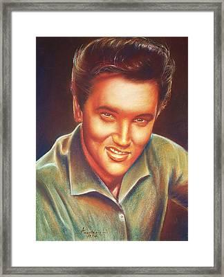 Elvis In Color Framed Print by Anastasis  Anastasi