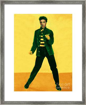Elvis Is In The House Framed Print by Wingsdomain Art and Photography