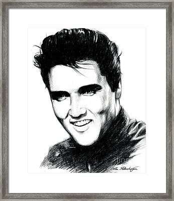 Elvis Framed Print by Lin Petershagen