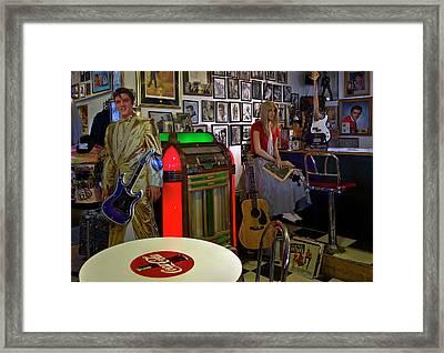 Elvis Lives Framed Print by Murray Bloom