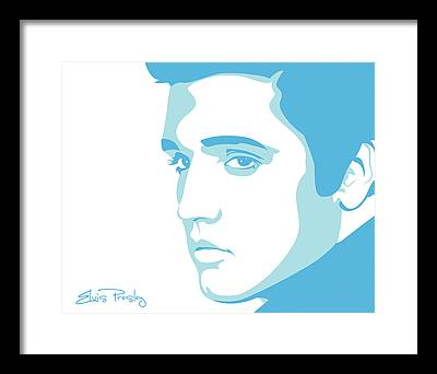 Elvis Presley Music Rock Art Framed Prints