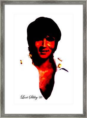 Framed Print featuring the mixed media Elvis By Loxi Sibley by Loxi Sibley