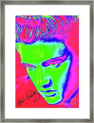 Elvis Preslely - Colourful  Framed Print