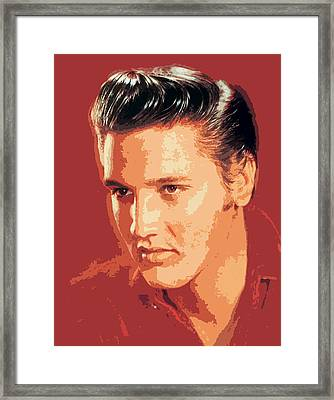 Elvis Presley - The King Framed Print by David Lloyd Glover