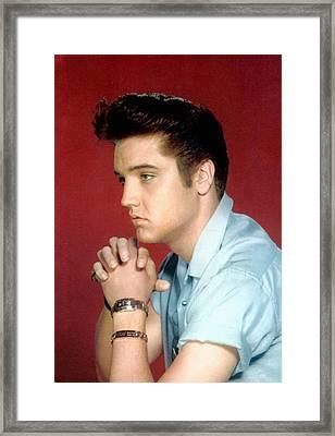 Elvis Presley, 1950s Framed Print
