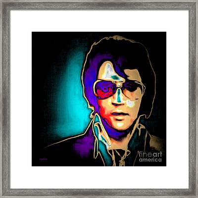 Elvis Presley 20151218 Square Framed Print by Wingsdomain Art and Photography
