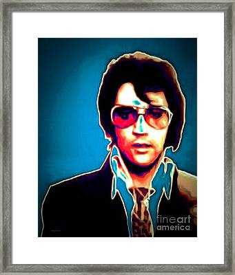 Elvis Presley 20151218 Framed Print by Wingsdomain Art and Photography