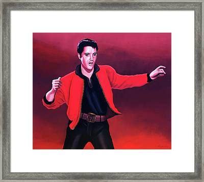 Elvis Presley 4 Painting Framed Print by Paul Meijering