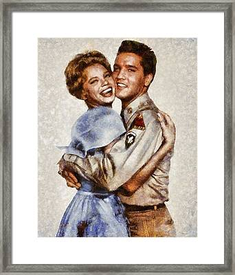 Elvis Presley And Juliet Prowse Framed Print by Esoterica Art Agency