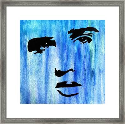 Elvis Presley Blue  Framed Print by Shawn Brandon