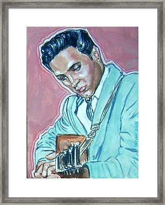 Elvis Presley Framed Print by Bryan Bustard