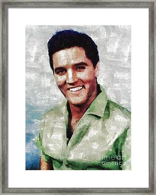 Elvis Presley By Mary Bassett Framed Print