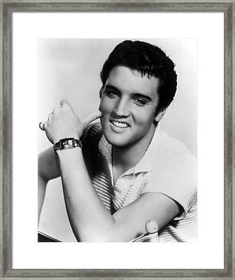 Elvis Presley, Ca. 1950s Framed Print by Everett