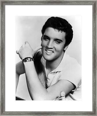 Elvis Presley, Ca. 1950s Framed Print by Everett