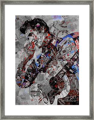 Elvis Presley Collage Framed Print by Gull G