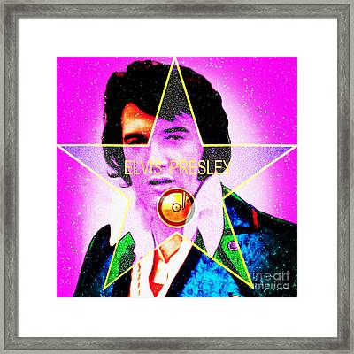 Elvis Presley Hollywood Walk Of Fame Star 20160118 Framed Print by Wingsdomain Art and Photography