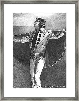 Elvis Presley II Framed Print by Dan Clewell