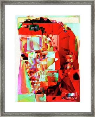 Elvis Presley In Abstract Cubism 20170326 V3 Framed Print by Wingsdomain Art and Photography