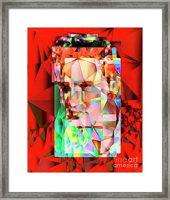 Elvis Presley In Abstract Cubism 20170326 V5 Framed Print by Wingsdomain Art and Photography