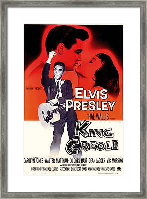 Elvis Presley In King Creole 1958 Framed Print by Mountain Dreams