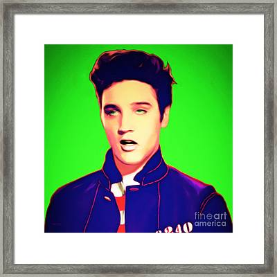 Elvis Presley Jail House Rock 20151221 Green Square Framed Print by Wingsdomain Art and Photography