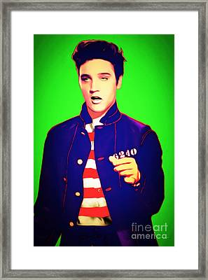 Elvis Presley Jail House Rock 20151221 Green Framed Print by Wingsdomain Art and Photography