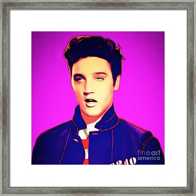 Elvis Presley Jail House Rock 20151221 Square Framed Print by Wingsdomain Art and Photography