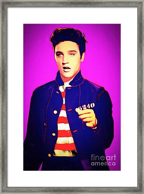 Elvis Presley Jail House Rock 20151221 Framed Print by Wingsdomain Art and Photography