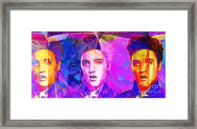 Elvis Presley Jail House Rock 20160520 Long V2 Framed Print by Wingsdomain Art and Photography