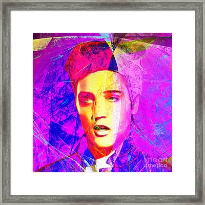 Elvis Presley Jail House Rock 20160520 Square V2 Framed Print by Wingsdomain Art and Photography