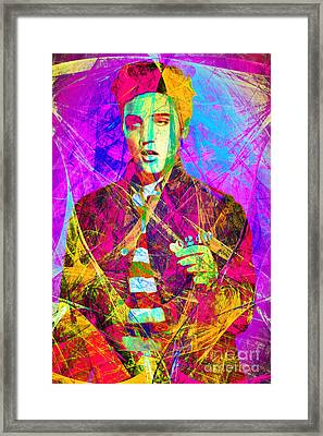 Elvis Presley Jail House Rock 20160520 Framed Print by Wingsdomain Art and Photography