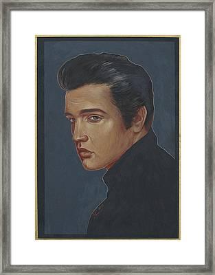 Elvis Presley Framed Print by Jovana Kolic