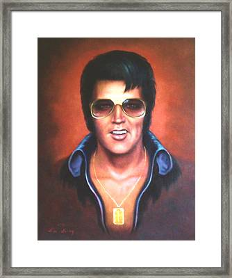 Framed Print featuring the painting Elvis Presley by Loxi Sibley