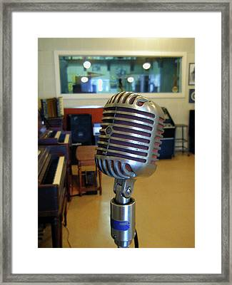 Framed Print featuring the photograph Elvis Presley Microphone by Mark Czerniec