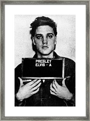 Elvis Presley Mug Shot Vertical 1 Framed Print by Tony Rubino