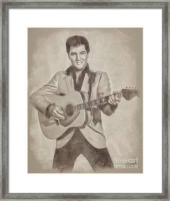 Elvis Presley, Music Legend Framed Print