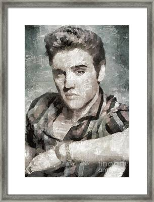 Elvis Presley, Music Legend Framed Print by Mary Bassett