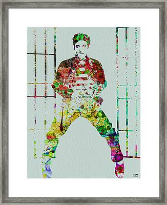 Elvis Presley Framed Print by Naxart Studio