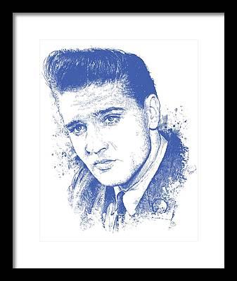 Elvis Presley Music Rock Framed Prints
