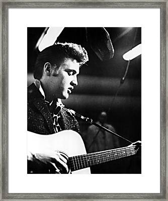 Elvis Presley, Recording In The Studio Framed Print by Everett