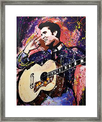 Elvis Presley Framed Print by Richard Day